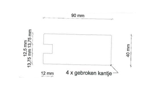 13. Randwerk 40x90 mm