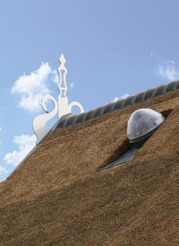 Solatube op rieten dak