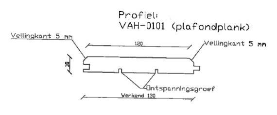 4. VAH-0101 plafondplank