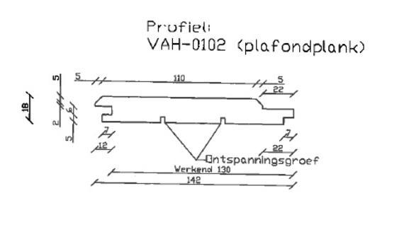5. VAH-0102 plafondplank