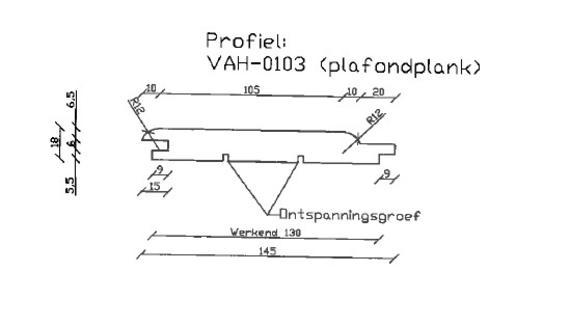 7. VAH-0104 plafondplank