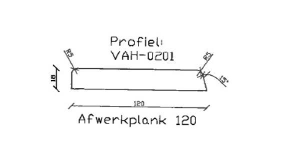 8. VAH-0201 afwerkplank 120 mm