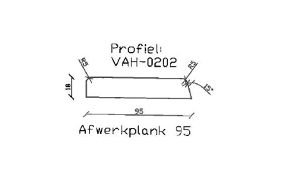 9. VAH-0202 afwerkplank 95 mm