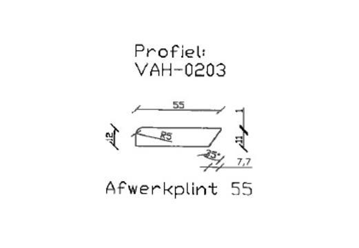 10. VAH-0203 afwerkplint 55 mm