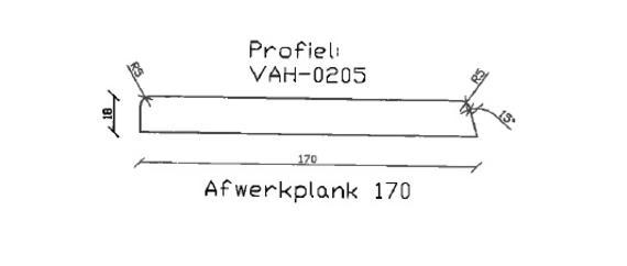 12. VAH-0205 afwerkplank 170 mm