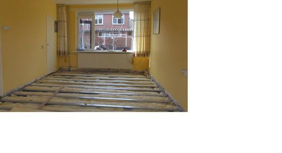 Begane grond vloer vervangen voor geisoleerde Combifor vloer